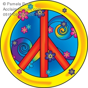 Peace Sign clipart 70's Psychadelic Peace Psychadelic of Sign