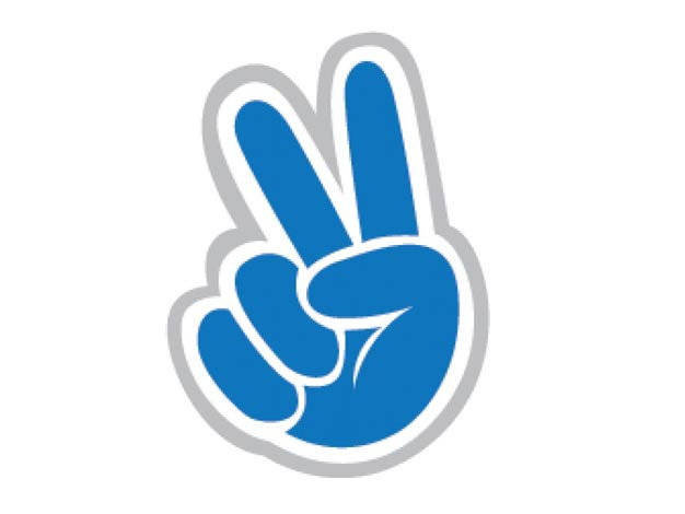 Peace Sign clipart blue Template With Clip Peace Sign