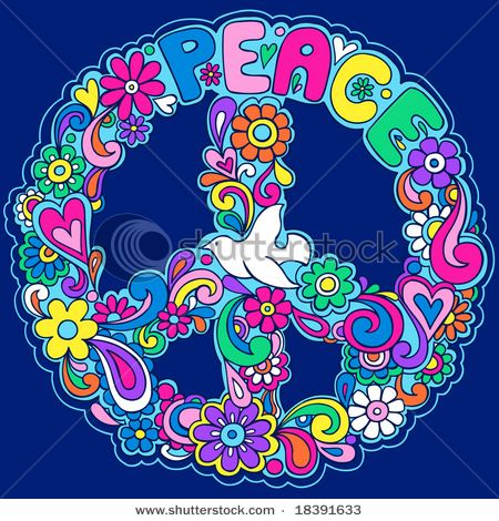 Peace Sign clipart blue For Pin on 25+ Image