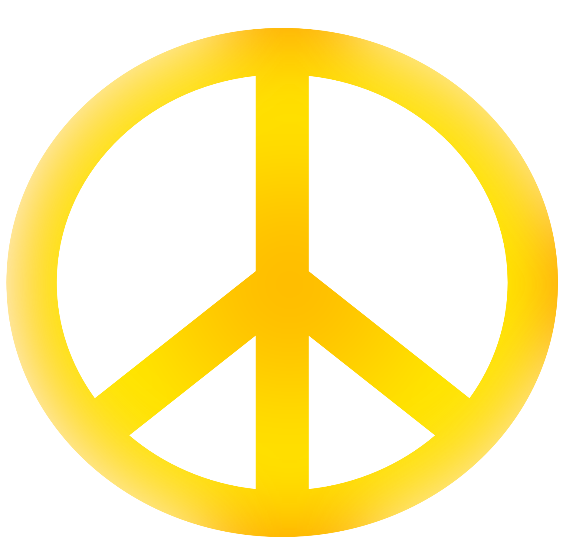 Peace clipart yellow Border clipart sign resource art