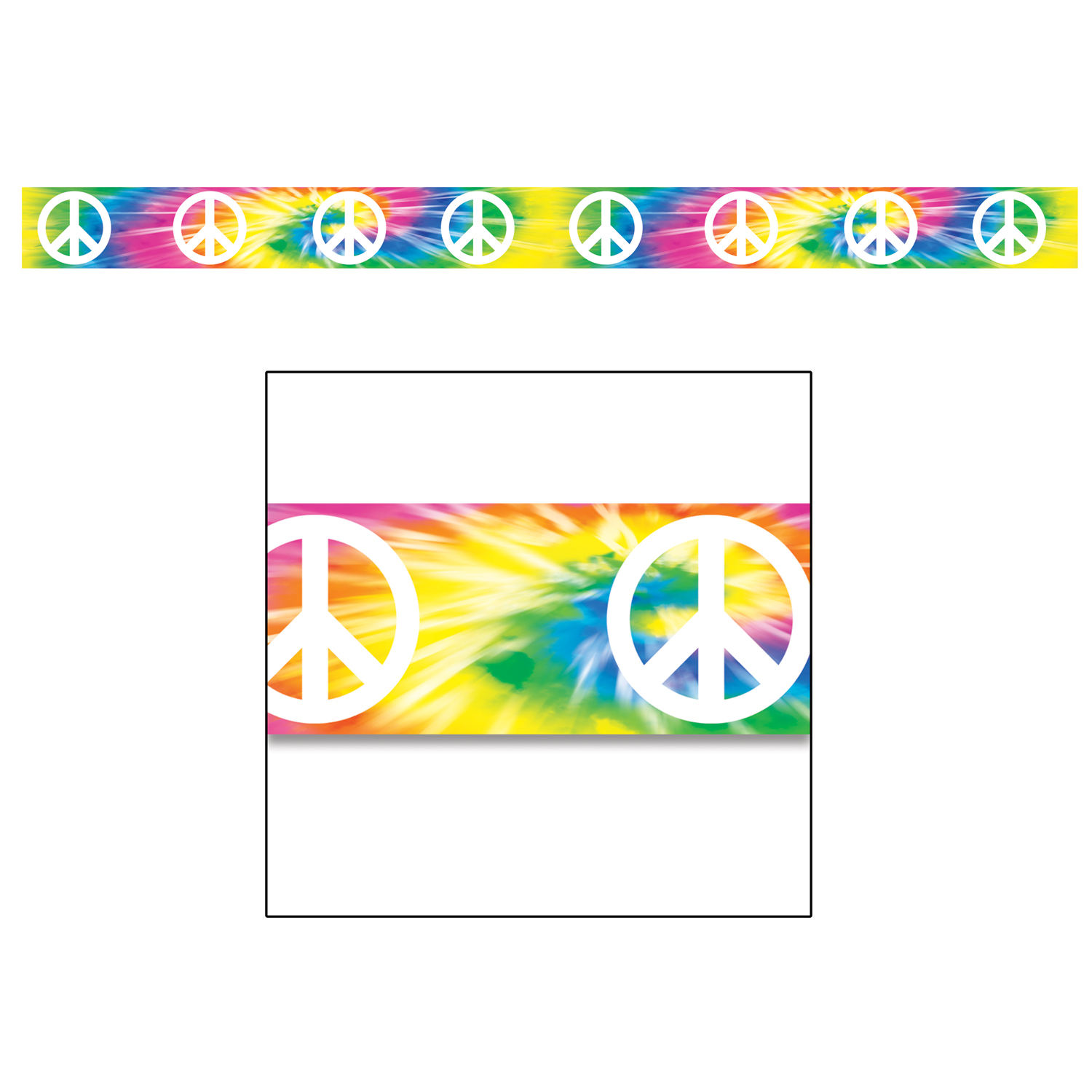 Peace Sign clipart border Themed Party Canada Supplies Hippie)