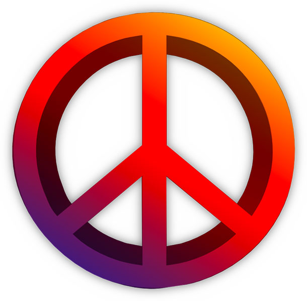 Peace clipart colorful Symbol Clipart Peace 3D Free