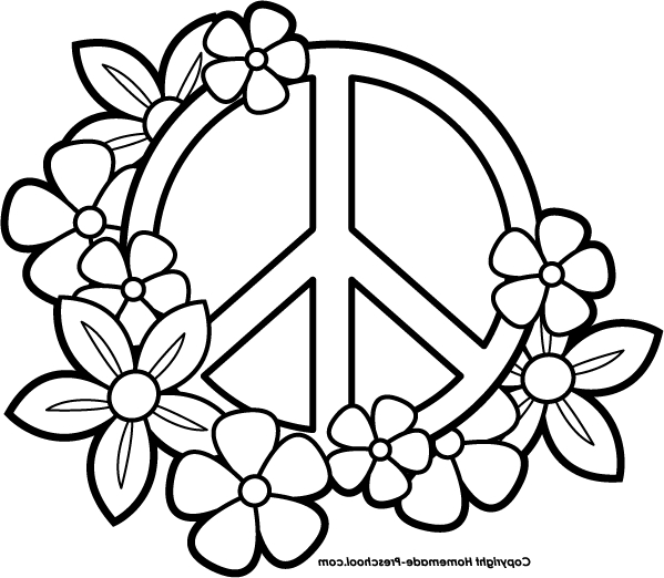 Peace Sign clipart colouring page Peace Pages Cool2bkidsfree Coloring Sign