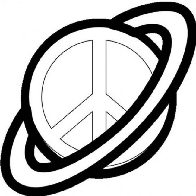 Peace Sign clipart colouring page TAM 195 on peace CRAFT