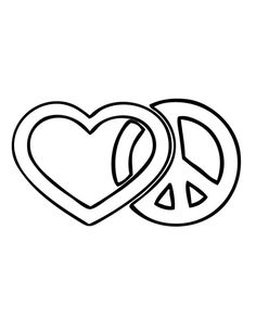 Peace Sign clipart colouring page Peace Pages Free Printable Coloring