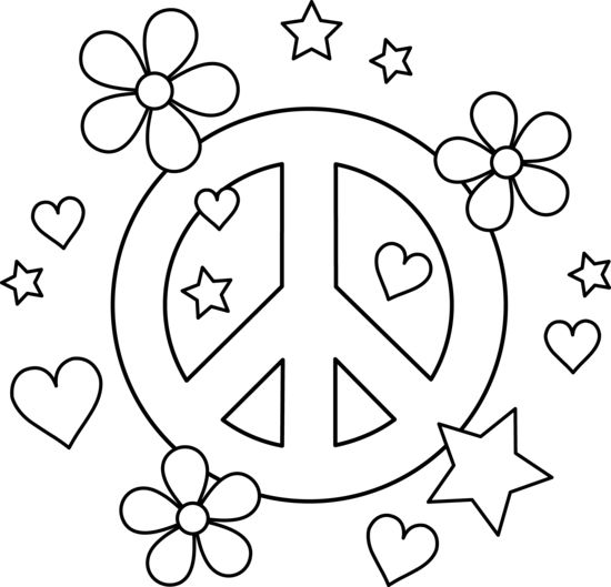 Peace Sign clipart colouring page On more Pinterest Find best