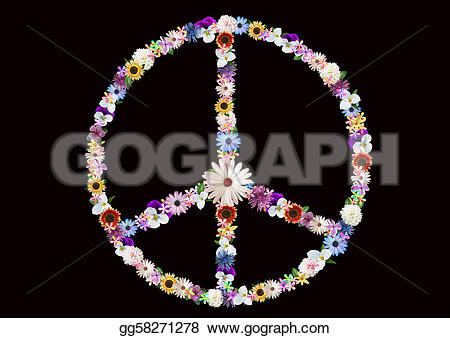 Peace clipart flower power Sign Floral background Clipart peace