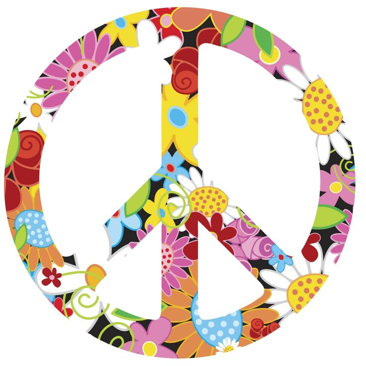 Peace clipart flower power More Pin power power and