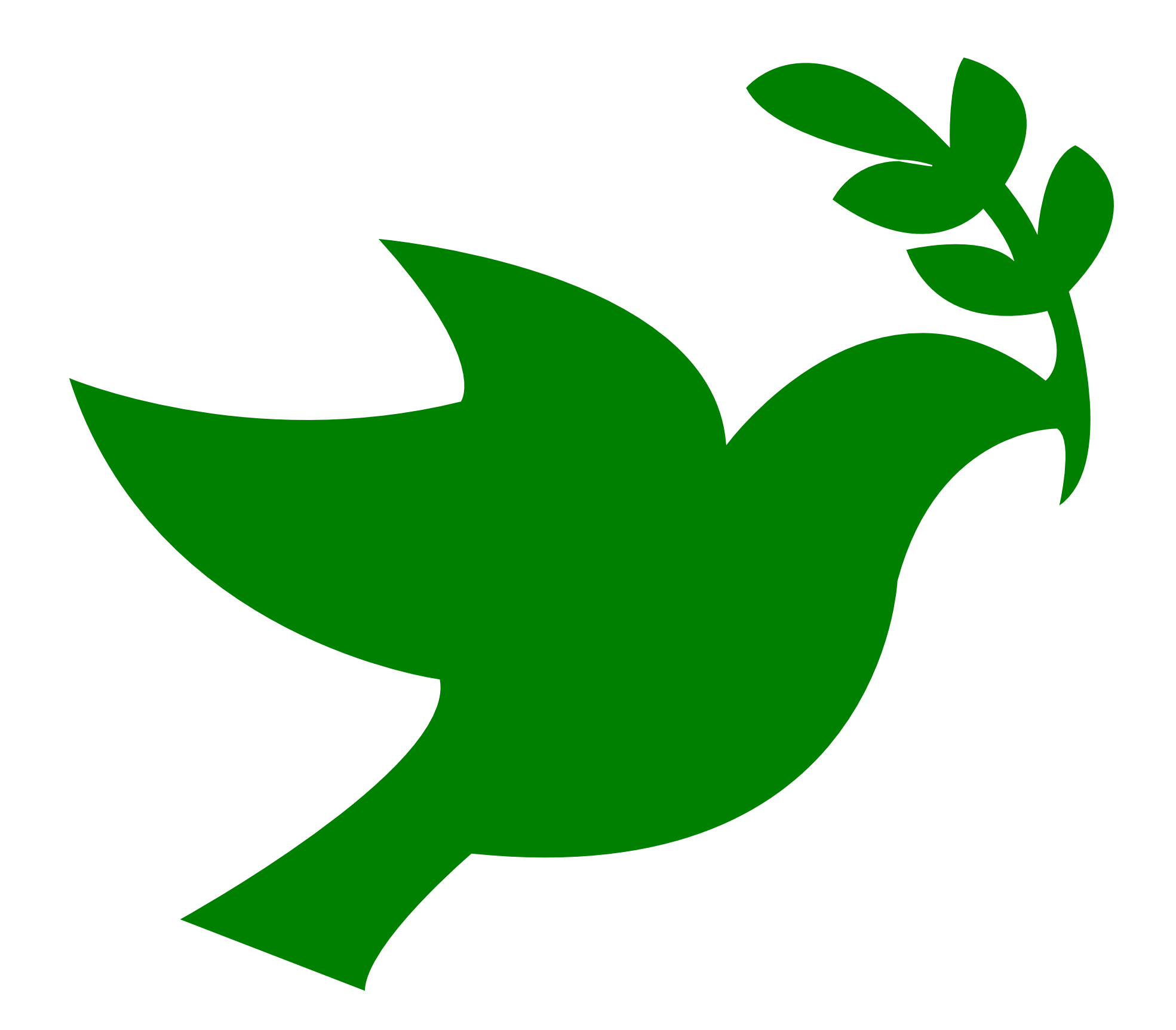 Peace Sign clipart green peace Peace Coloring Earth Dove on