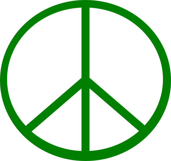 Peace Sign clipart green peace This Clker Green com Peace