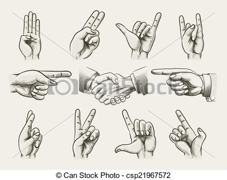Peace Sign clipart hand counting Two peace Set in counting