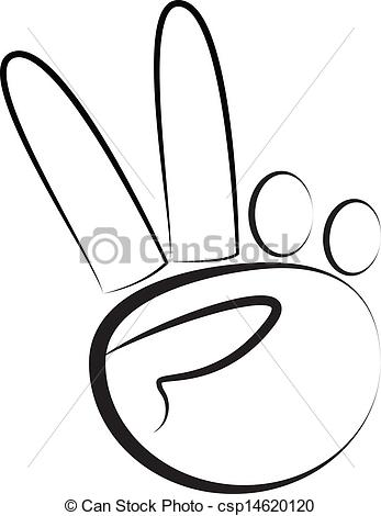 Peace Sign clipart hand drawing Free Hand Clipart Panda Peace