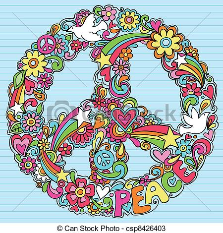 Physcedelic clipart peace bird Peace Psychedelic csp8426403 Psychedelic