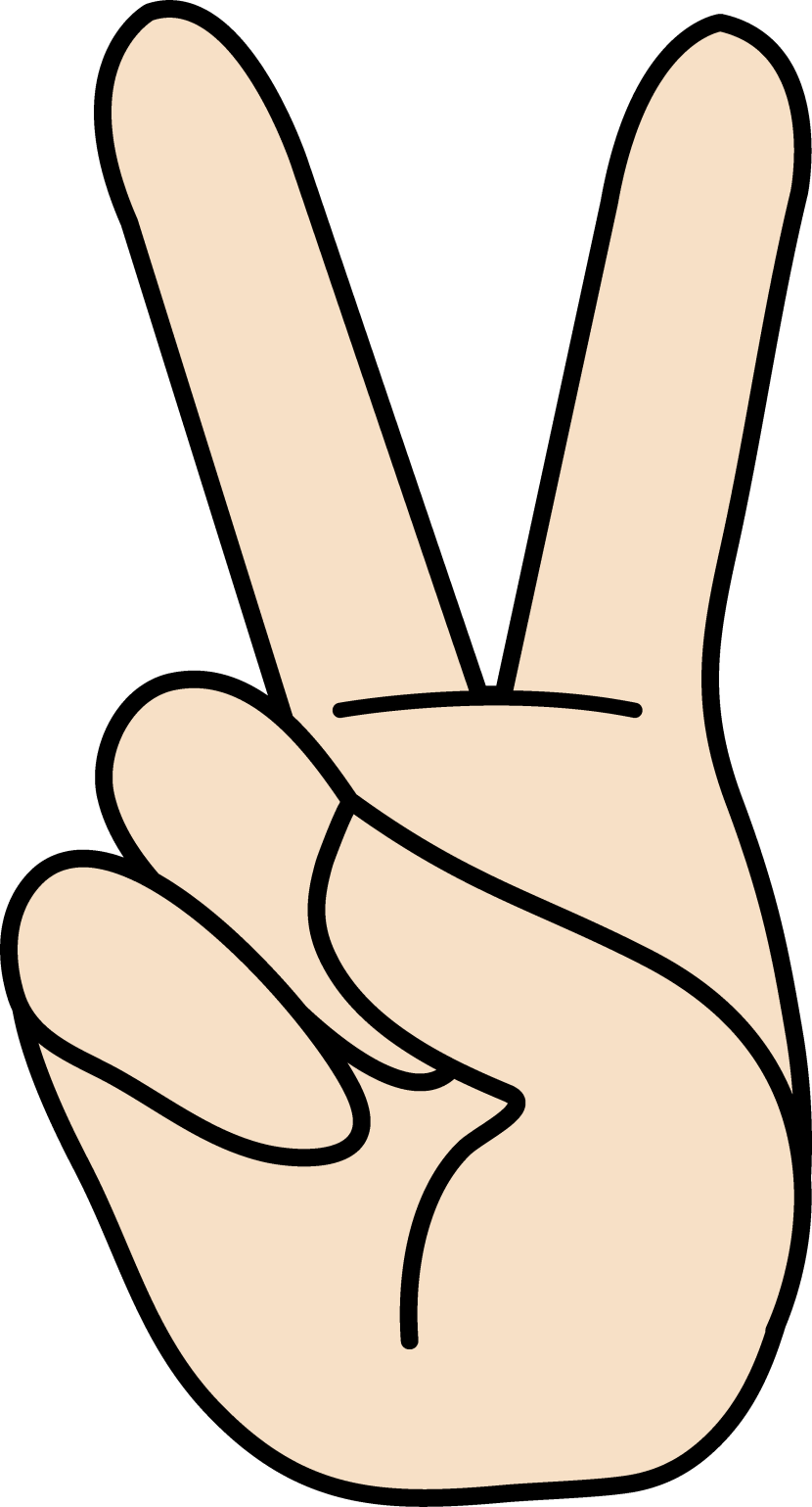 Peace clipart one « Sign com Sign Clipartion