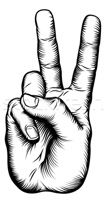 Peace clipart two finger Images Sign Free Panda Peace