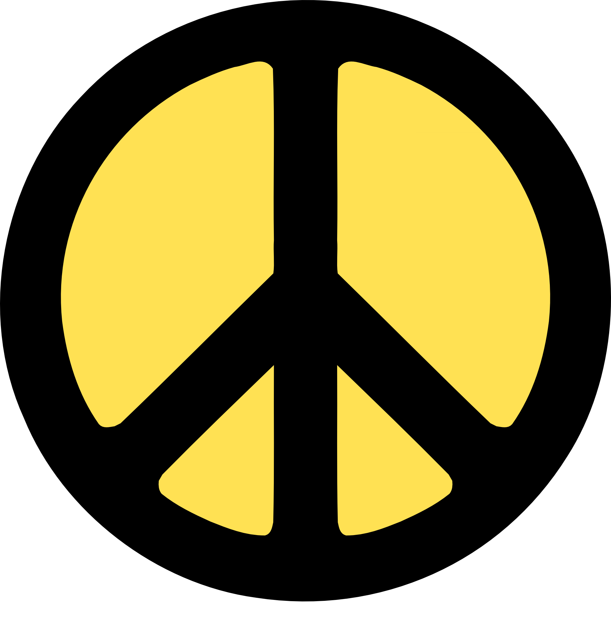 Peace clipart yellow 111(K) wall sign 2 Art