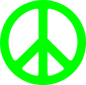 Peace Sign clipart neon  Clip Neon Sign Art