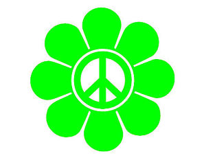 Peace Sign clipart neon NEON PEACE Image STICKER FLOWER