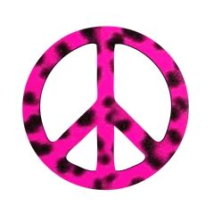 Peace Sign clipart neon On >> Pink Sign Leopard