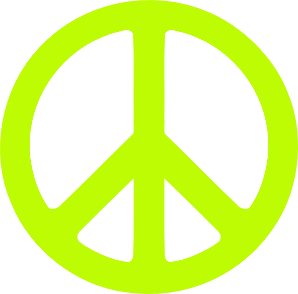 Peace Sign clipart neon At clip Download Art Green