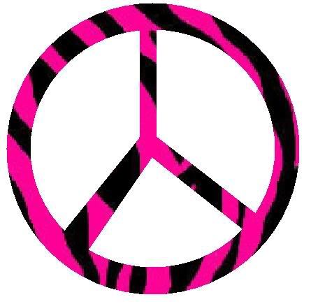 Zebra clipart peace sign Pink graphics sign peace images