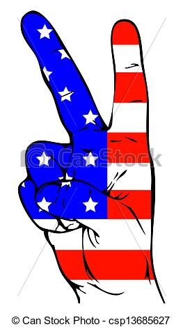 America clipart peace sign Art Peace Sign of the