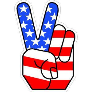Peace clipart hand signal American Flag ideas hand like