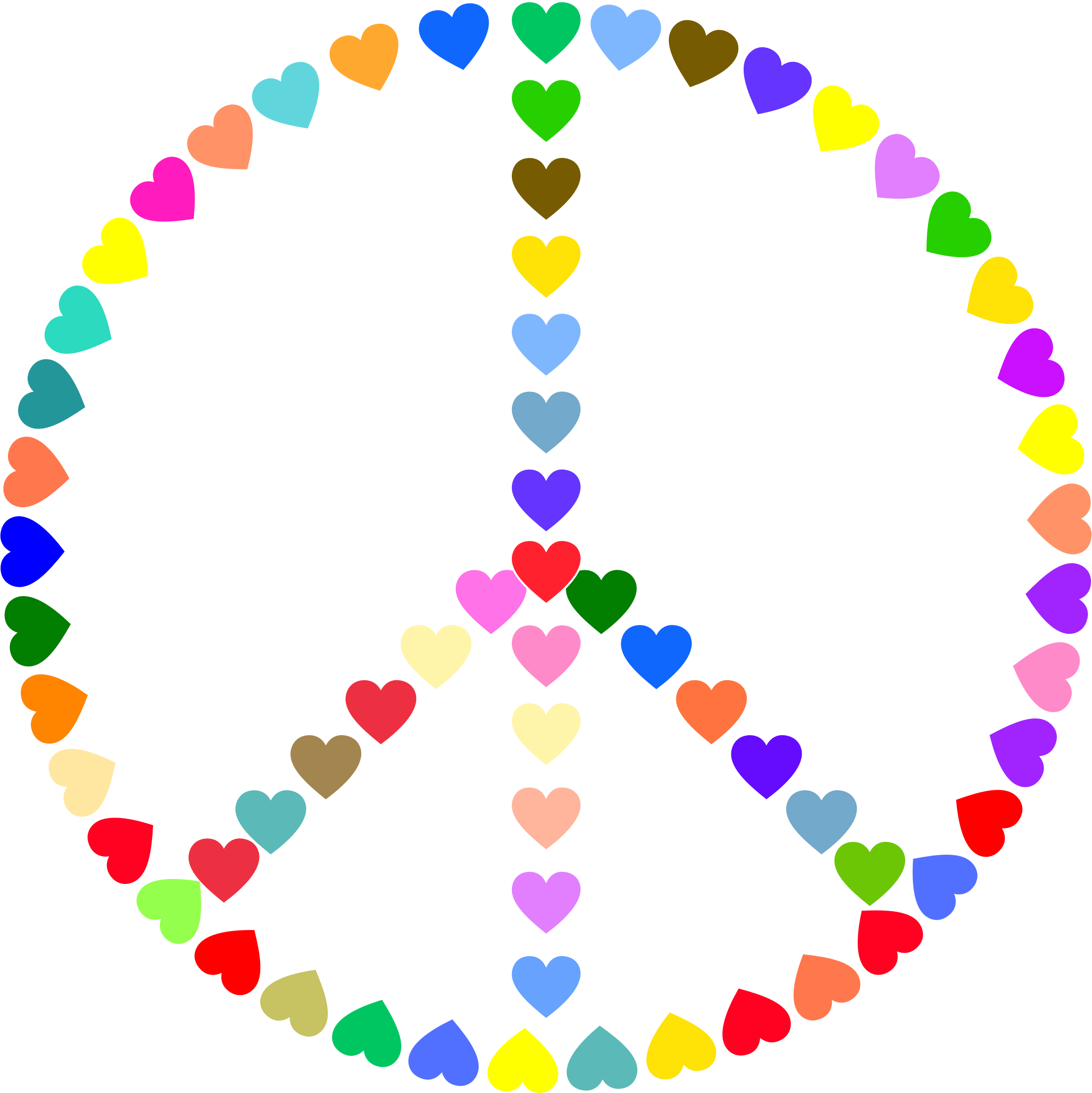 Peace Sign clipart peace and love Colorful Love Sign Love Peace