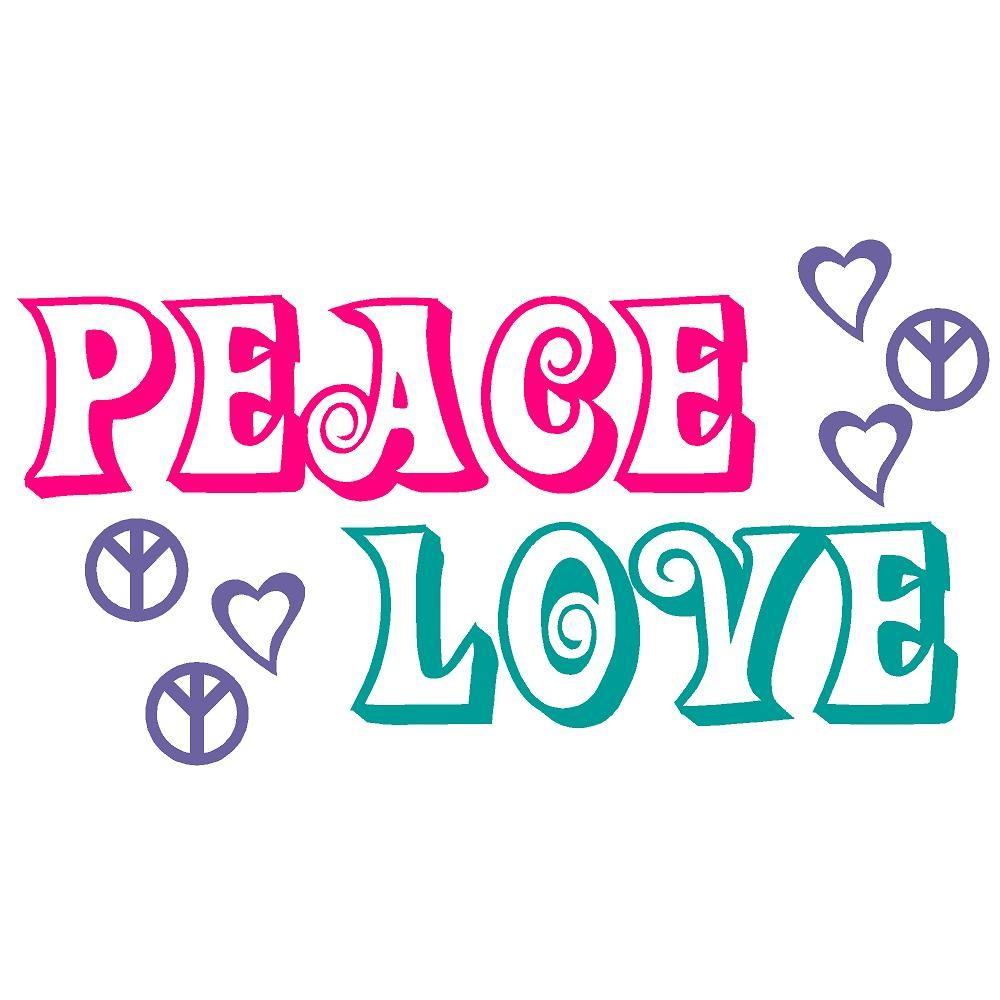 Peace Sign clipart peace word Peace Decals Art  Bluestreak