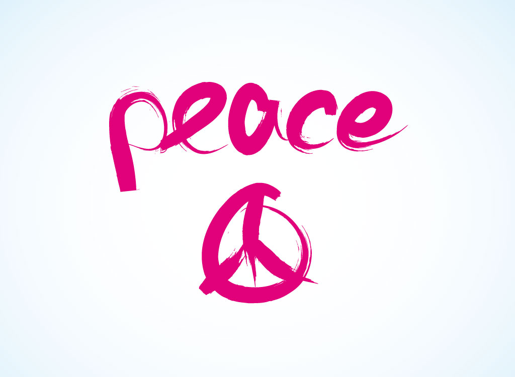 Peace Sign clipart peace word Peace sign symbol word (42+)