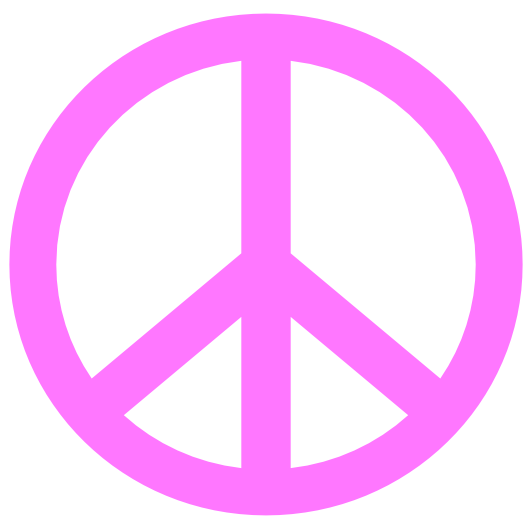 Peace Sign clipart pink Free Art Clip Clipart Peace