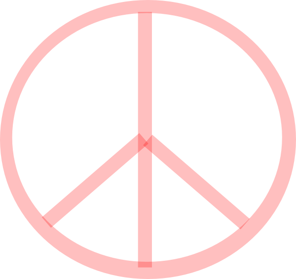 Peace Sign clipart pink Art  at Clip clip