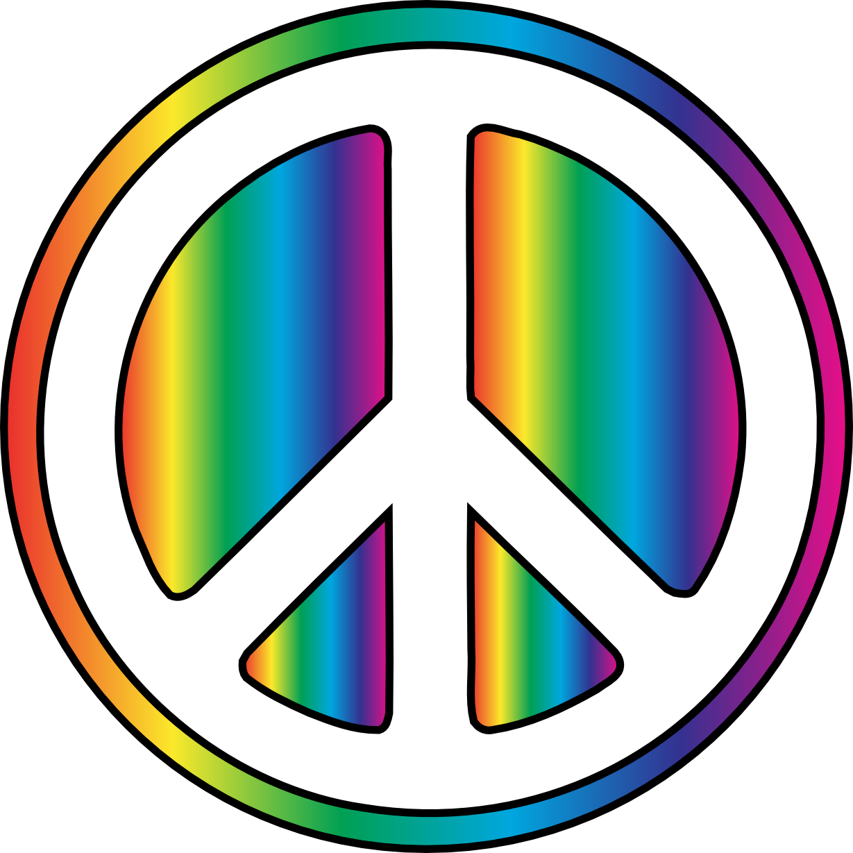 Peace Sign clipart printable Download library Sign Clip Pictures