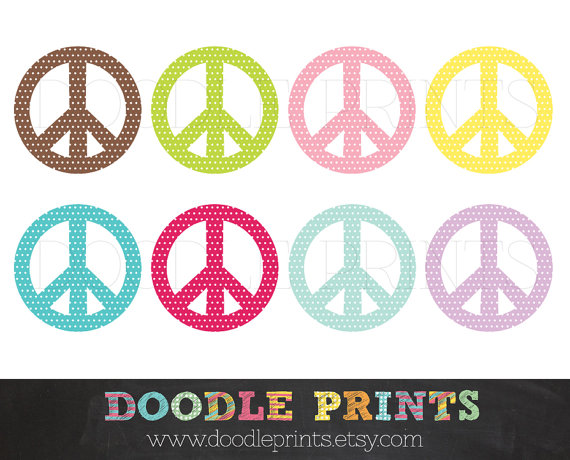 Peace Sign clipart printable Sign Digital Peace Sign Clipart