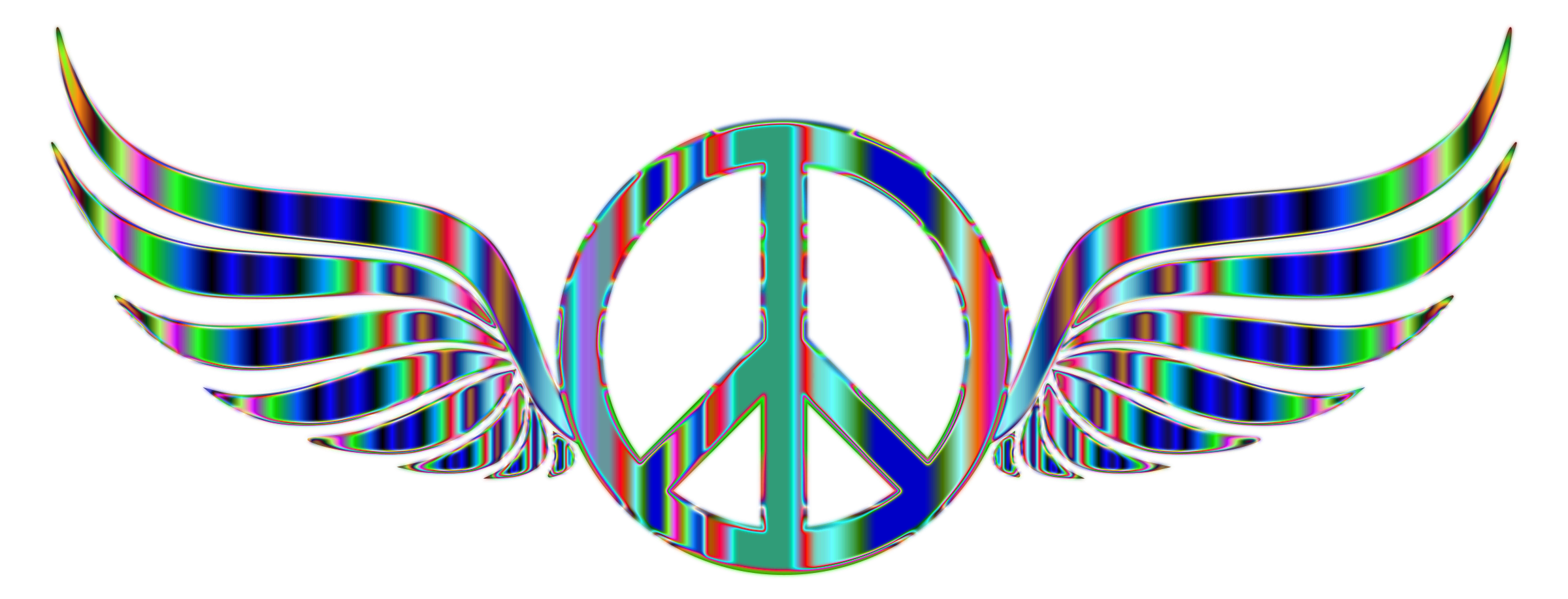 Peace Sign clipart psychedelic Peace Wings Psychedelic Sign No