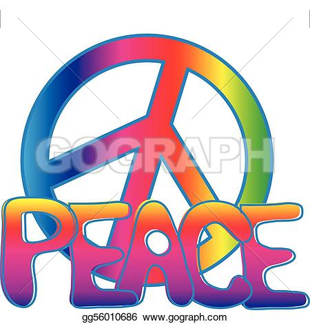 Peace clipart colorful Sign text Royalty Art PEACE