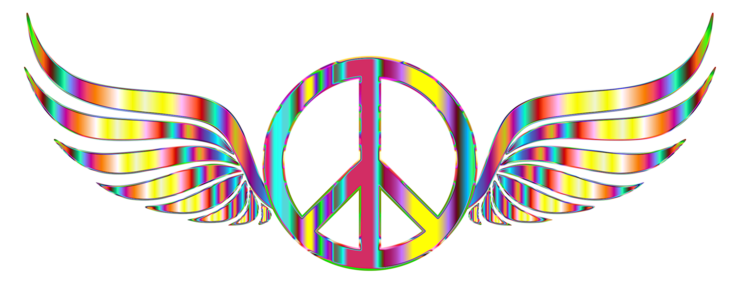 Peace Sign clipart psychedelic Peace Psychedelic Psychedelic Wings Background