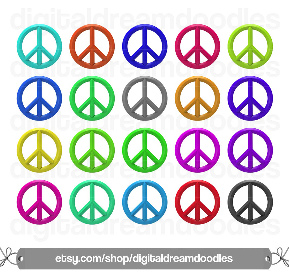 Peace clipart colorful Digital Sign PNG Symbol Peace