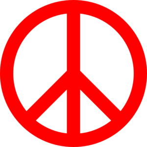 Peace Sign clipart red Sign online Red art Peace