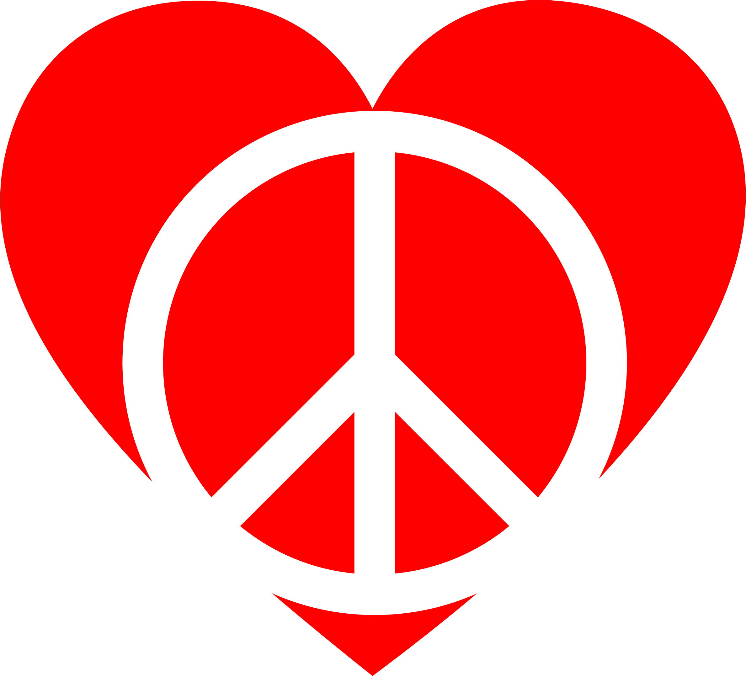 Peace Sign clipart red (PNG) Peace Heart Clipart Red