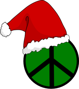 Peace Sign clipart red Peace clip Art vector Santa