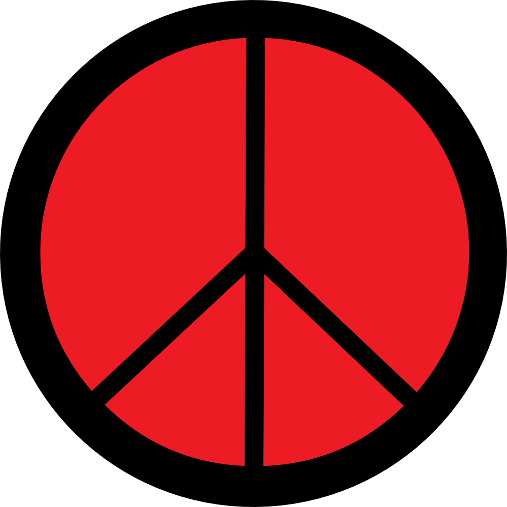 Peace Sign clipart red Clipart Free Clipart Clipart Images