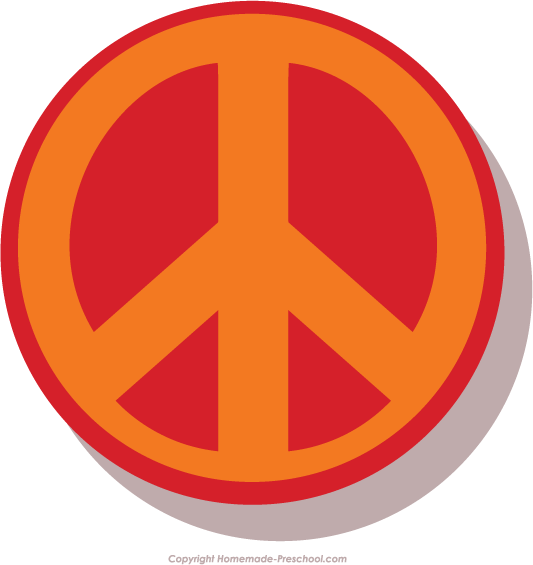 Peace Sign clipart red Save Peace Sign Image Clipart