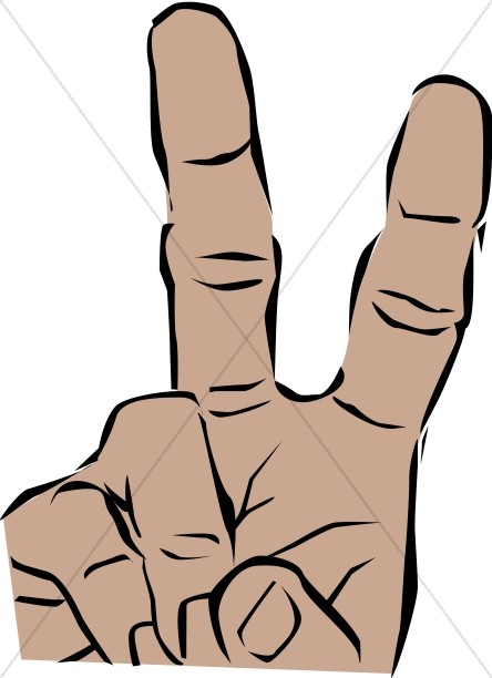 Peace Sign clipart sign language Peace skinned Brown Hand Peace