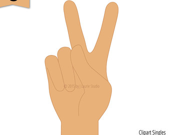 Peace Sign clipart sign language Sign Digital Etsy Singles Clipart