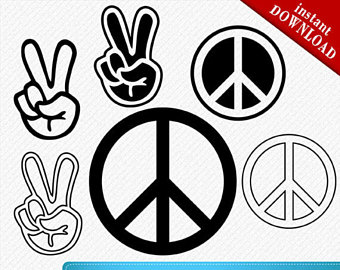 Tranquility clipart peace sign Peace Peace Peace Sign sign