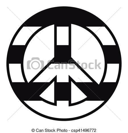 Peace Sign clipart simple Illustration csp41496772 simple style style
