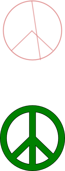Peace Sign clipart simple Clip Peace Simple art Green
