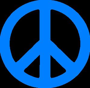 Peace Sign clipart transparent Art at Blue online Clker