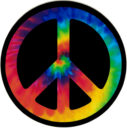 Peace Sign clipart tye dye Bumper Decal Peace Sign Small